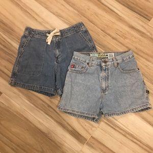 Gap & Mudd Jean Shorts - Bundle of 2